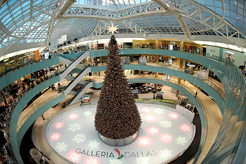 Bag End custom speakers in the Galleria Ice Rink and Shopping Center, Dallas, TX