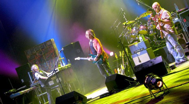 Keith Emerson Band in Moscow, 2008, shown with Bag End...