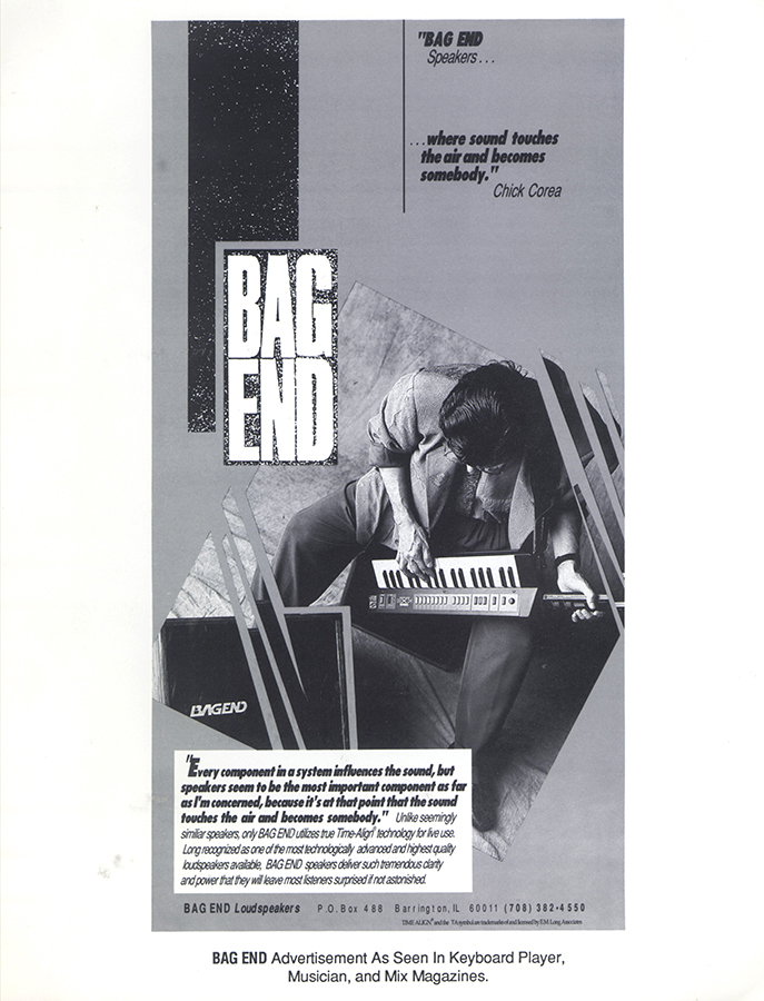 Chick Corea in an early Bag End advertisement