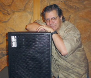 Chick Corea with his Bag End Speaker