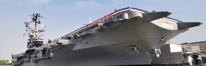 ussintrepid aircraft carrier turned museum on WWII uses Bag End Quartz and