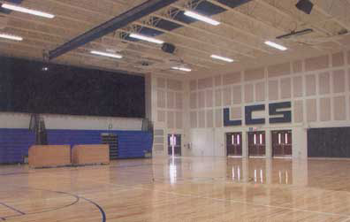 Lancaster Christian Schools Gymnatorium combines the Gym space with auditorium space and Bag End