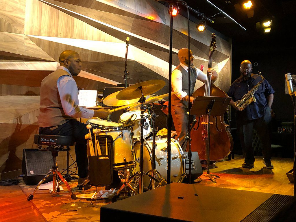 Dana Murray (percussion), Darius Jones (sax) and Eric Revis (bass) - Friday, February 22. Beautiful venue. Great sound