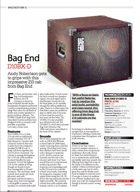 Andy Robertson Bag End Review