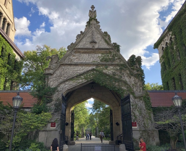 Historic Cobb Gate Entrance to the University Chicago